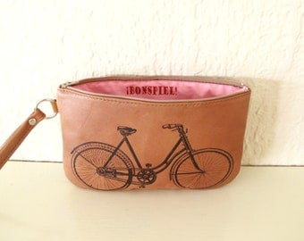 Bicycle Recycled Leather Wrist Purse