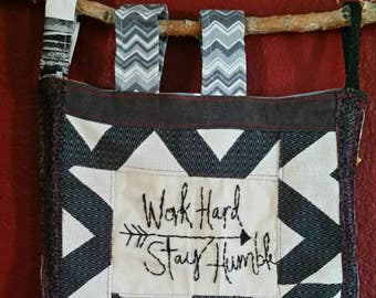 Work Hard Stay Humble art Embroidery