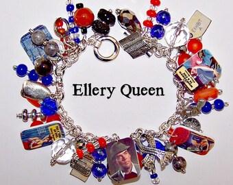 ELLERY QUEEN Detective Mystery Charm Bracelet