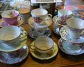 Teacup and Saucer lot of 11 teacups and 11 saucers unmatched