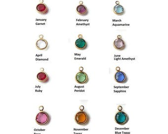 Swarovski Crystal garnet, light amethyst, diamond, aquamarine, emerald, light amethyst, peridot, ruby, tourmaline, sapphire, topaz, zircon