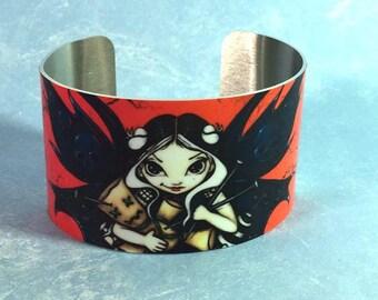 Voodoo Fairy metal cuff bracelet from Jasmine Becket-Griffith Art voodoo doll hoodoo santeria fairies faery