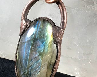 Unearthed. Labradorite framed in copper
