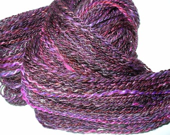 Hand Spun Multi Fibered Yarn for Knitting Crochet