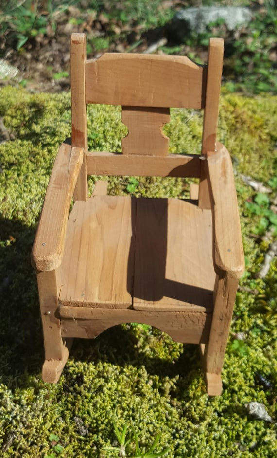 Dollhouse Rocking Chair Folk Art handcrafted miniature furniture