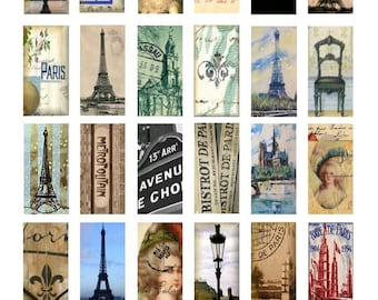 French Experience No. 1 - 1x2 Inch - Digital Collage Sheet - Instant Download