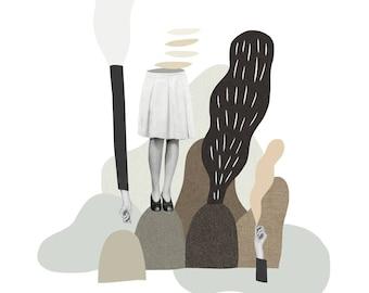 Assemblage 03 / Fine Art Print / Impression papier d'art / A3 A4 A5