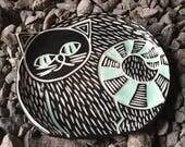 Mod Porcelain Cat dish tea tray