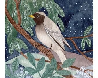 Bird in the Moonlight