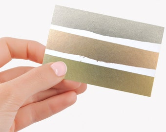 Metallic Business Cards   Foil Business Cards   Custom Cards   Personalized Calling Cards - Hot Foil Business Cards - YOUR DESIGN