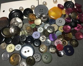 Buttons Assortment Variety Mixed Lot Destash Sewing Supplies