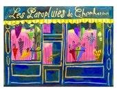 Umbrella shop • The Umbrellas of Cherbourg • Les Parapluies de Cherbourg • giclée art print • small limited edition • french new wave • demy
