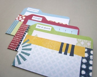 Mini File Folder Pockets - Papercrafting, Scrapbooking, Journaling