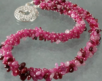 FINAL SALE - Natural Ruby & Pink Sapphire Necklace
