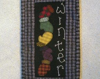 Winter wool wallhanging