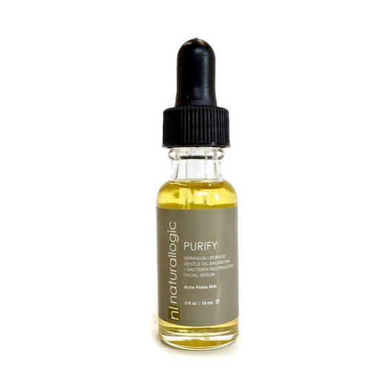 Purify Blemish Serum. Spot Treatment. Acne Soother. Oily, Combination, Acne Prone. Natural Organic Skin Care. Vegan