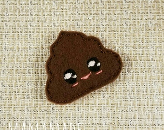 Poop Emoji - Planner Clip, Magnet or Hairclip (bookmark, planner or journal clip)