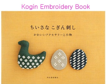 Embroidery KOGIN Stitch Small Goods or Flower Brooches- Japanese Craft Books