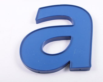 Vintage, Store Letter, Large Display Letter, Blue A, Letter A, Lowercase, Plastic ~ The Pink Room ~ 161207