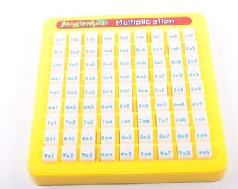 Multiplication Table, Educational, Learning, Magic Math, Push Down Buttons Classroom, Teacher, Supplies, Vintage ~ The Pink Room ~ 160917