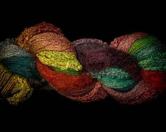Cat Mountain Fiber Arts Fusion 250 in Hummingbird, plus Free pattern!