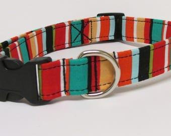 Bold StripesPrinted Handmade Dog Collar