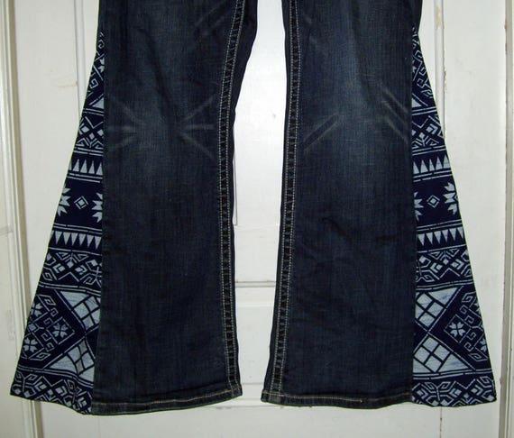 hippie bell bottom jeans ooak custom order send me your jeans