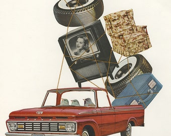 Sparrow and sons, junk dealers.  Original collage by Vivienne Strauss.