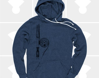 Fly Fishing Rod Men's Shirt | Pullover Hoodie Sweatshirt | Fly Fishing Gifts | Gift for Men | Gift for Dad | Colorado | Gift for Husband