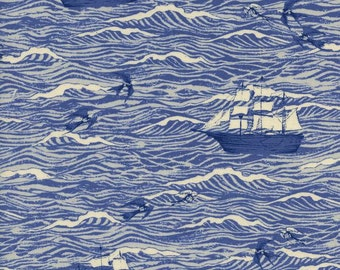 Cotton + Steel S.S. Bluebird - out to sea - blue - 50cm