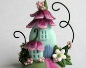 Miniature  Sweetheart Fairy Blossom House  OOAK by C. Rohal