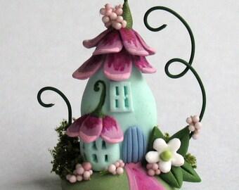 Miniature  Sweetheart Fairy Blossom House  OOAK by C. Rohal