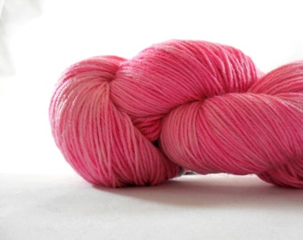 "Anglophile BFL fingering yarn in ""Bubble Gum Lip Smacker"" from AnniePurl"