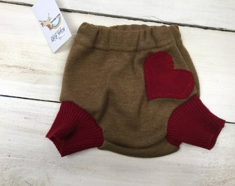 3-6 mo wool heart Soaker
