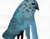 SALE Long Arms Bird Original / gouache painting