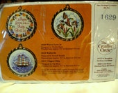 Vintage 1983 The Creative Circle Kit no 1629 Where Love Is... Counted Cross Stitch