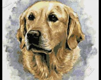 Labrador counted cross stitch kit
