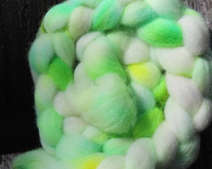 Kettle Dyed Cheviot Wool Top.  Easy to spin. 4oz  Braid. Spin. Felt. Roving. C208