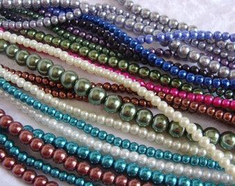 Glass Pearls Large Destash Lot
