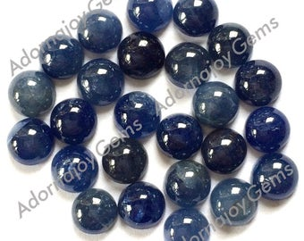 Gemstone Cabochon Sapphire 5mm Round Blue FOR ONE