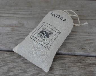 Organic Catnip (Cat Nip) Loose in a Hand Stamped Bag Cats