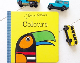 New Jane Foster's Colours baby board book  - Scandi retro illustrations Jane Foster can sign on request!