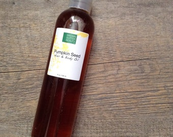 Pumpkin Seed Hair Oil | Body Oil| Sweet Orange and Rosemary Essential Oil | 100% natural