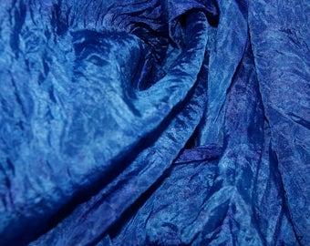 Deep Space in  Hand Dyed Habotai Silk  for Nuno Felting