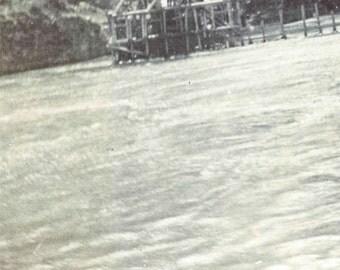 Vintage Snapshot 1898 Salmon Trap on Columbia River Oregon