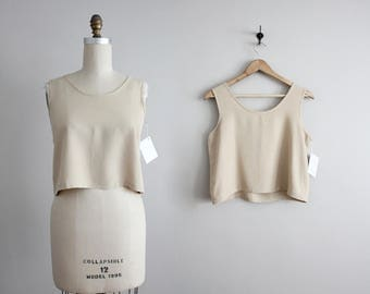 nude crop top | cropped tank top | neutral crop top