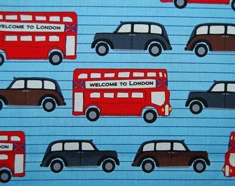 LONDON novelty FABRIC Robert Kaufman bundle Next Stop London Bus  quilting cotton Laurie Wisbrun