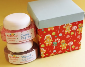 Whipped Soap Cream Fluff and Body Butter Christmas Gift Set - Stocking Stuffer, Teen Gift, Whipped Soap, Gift For Her, Teen Gift, Co Worker