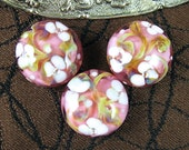 Pink Blossom Tapestry Bead Set by Kerribeads