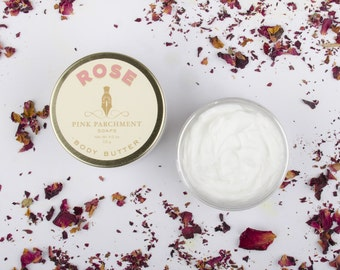 Rose Body Butter - Whipped Body Butter - Bridal Shower Favor - Bridesmaid Gift - Gift For Her - Mothers Day Gift